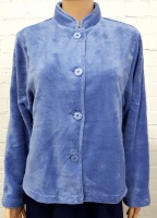 Taubert Luxury Plush Velour Button Bed Jacket