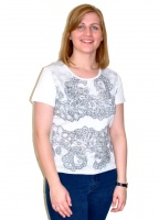Claudia C Lace And Stud Print T-shirt