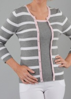 Claudia C Grey Mock Twin Set Style Jumper