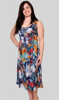 Claudia C Floral Print Reversible Dress