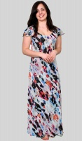 Claudia C Floral Full Length Reversible Dress