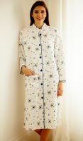 Cottonreal 100% Cotton Button Housecoat