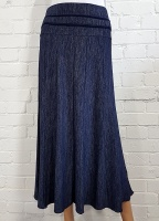 Claudia C Navy Flare Skirt