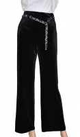 Saloos Elegant Velour Wide Leg Trouser