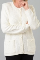 Claudia C Boucle loop Button Cardigan