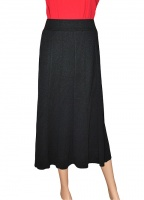 Claudia C  6 Panel Black Skirt