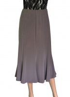 Saloos Eight Panel Taupe Skirt