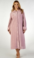 Slenderella Luxury Velour Fleece Midi Button Housecoat