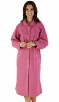 Slenderella Polar Embroidered Yoke Housecoat