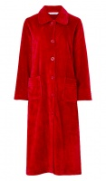 Slenderella Velour Fleece Button Housecoat