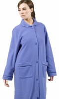 Fleece Towelling Button Housecoat.
