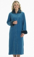 Slenderella Velour Button Housecoat