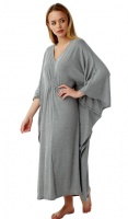 Marlon Full Length Brushed Marl Knitted Kaftan