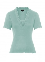 Emreco Louise Ruffle V Neck Top