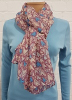 Ladies Fashion Heart Print Scarf