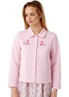Marlon Mock Quilt Embroidered Bed Jacket