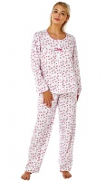 Marlon Pure Cotton Long Sleeve Yoke Pyjama