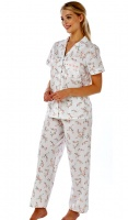 Marlon Ribbon Slot Short Sleeve Pyjama