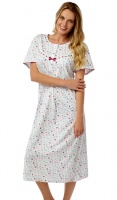 Marlon Floral Jersey Short Sleeve Cotton Nightdress