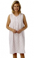 Marlon Poly Cotton Sleeveless Nightdress