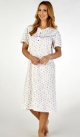Slenderella 100% Cotton Floral Short Sleeve Nightdress
