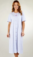 Slenderella Cotton Jersey Button Through Nightdress