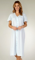 Slenderella Embroidered Button Through Nightdress