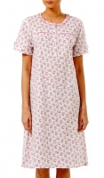 Slenderella Short Sleeve Pure Cotton Nightdress