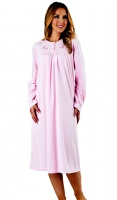 Slenderella Cosy Micro Fibre Embroidered Nightdress