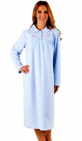 Slenderella Cosy Micro Fibre Collared Nightdress