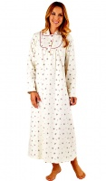 Slenderella Pure Brushed Cotton Full Length Nightdress