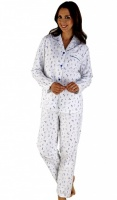Slenderella 100% Cotton Floral Ladies Pyjama