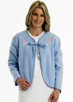 Slenderella Embroidered Polar Bed Jacket