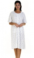 La Marquise Cotton Rich Button Through Floral Nightdress