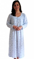 Slenderella Cotton Floral Long Sleeve Nightdress
