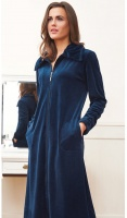 Taubert Luxury Cotton Rich Velour Zip Housecoat