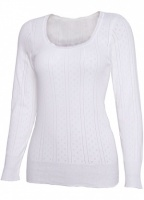 White Swan Long Sleeve Cotton Top