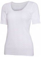 White Swan Short Sleeve Cotton Top