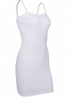 White Swan Long Opera Top Cotton Vest