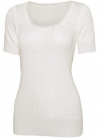 White Swan Short Sleeve Thermal Top