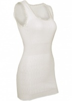 White Swan Long Built Up Shoulder Thermal Vest
