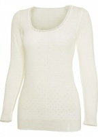 White Swan Long Sleeve Wool Top