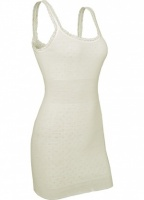 White Swan French Neck Wool Vest