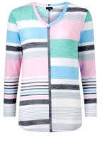 Emreco Chenies Block and Stripe Top