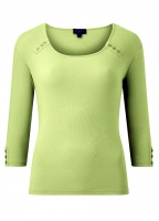 Emreco Natalie Round neck Button Detail Top