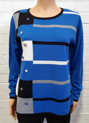 Mudflower Block and Stripe Jumper