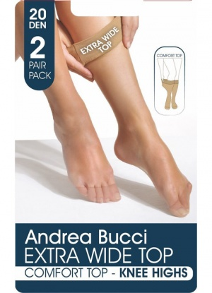 Andrea Bucci 20D Comfort Top 2 pack Knee Highs