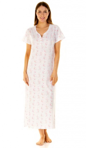 La marquise Country Fair Short Sleeve Cotton Nightdress
