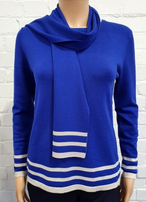 Claudia C Blue Jumper and Scarf