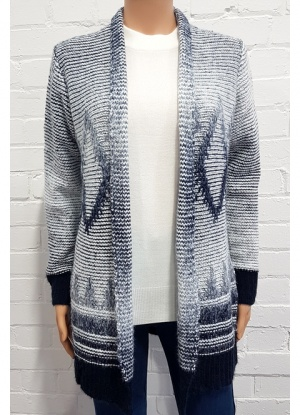 Claudia C Long Line Edge To Edge Cardigan